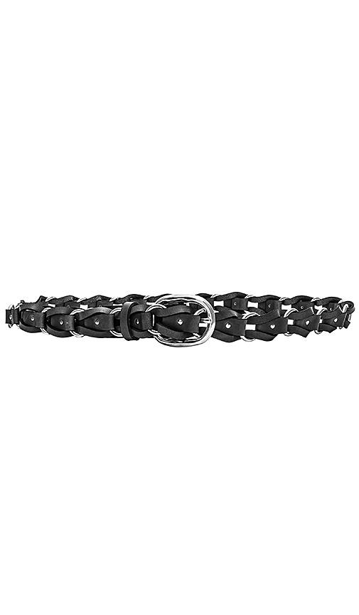 Rag & Bone Mason Woven Belt in Black