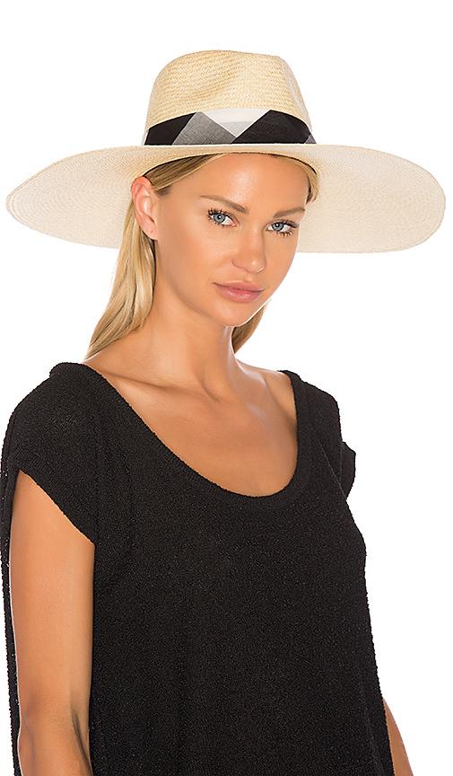 Rag & Bone Wide Brim Panama Hat in Beige