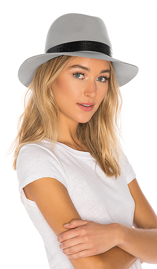 Rag & Bone Floppy Brim Fedora in Gray