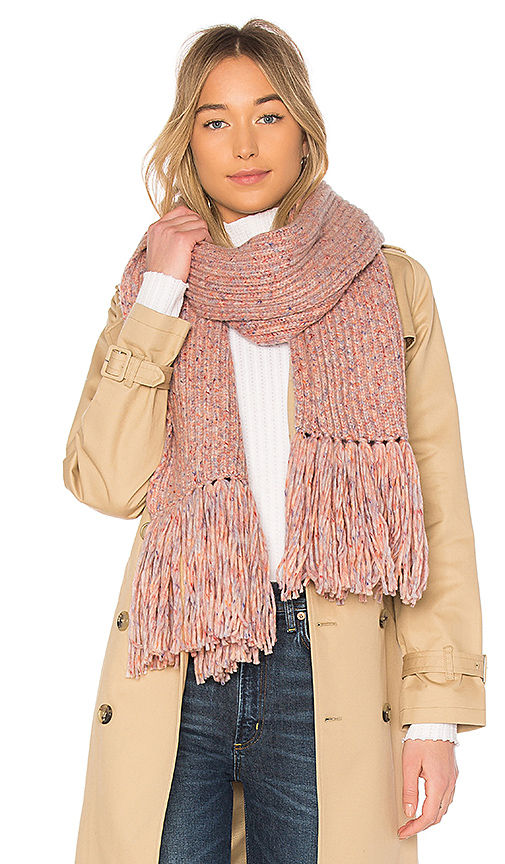 Photo of Rag & Bone Devin Scarf in Pink - shop Rag & Bone accessories and jewelry sales