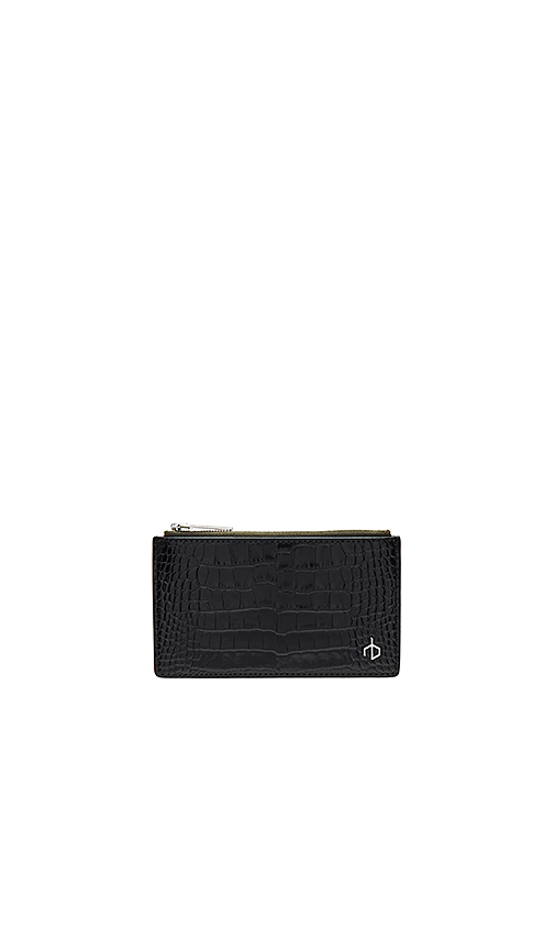 Rag & Bone Zip Card Case in Black