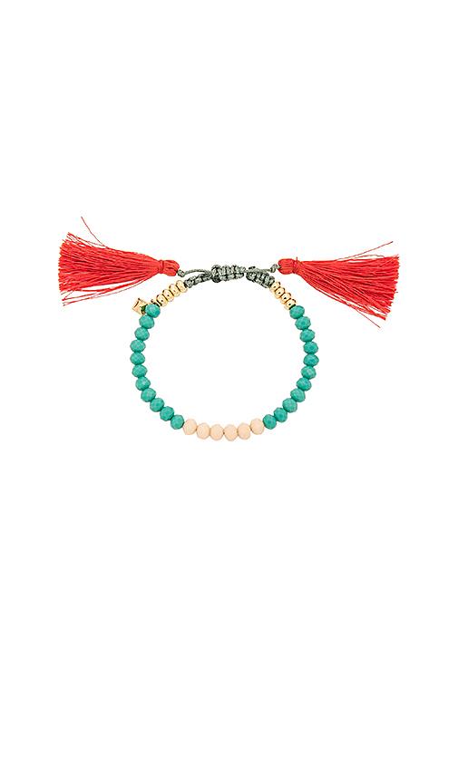 Rebecca Minkoff Tropics Tassel Bracelet in Teal