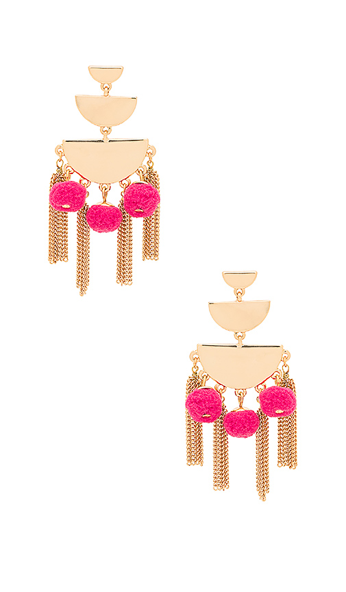 Rebecca Minkoff Triple Tier Chandelier Earring in Pink