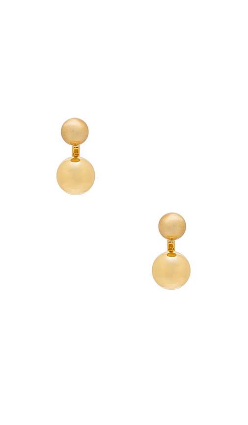 Rebecca Minkoff Sphere Earrings in Metallic Gold