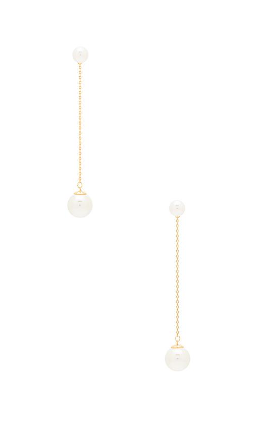 Rebecca Minkoff Sphere Drop Earring in Metallic Gold