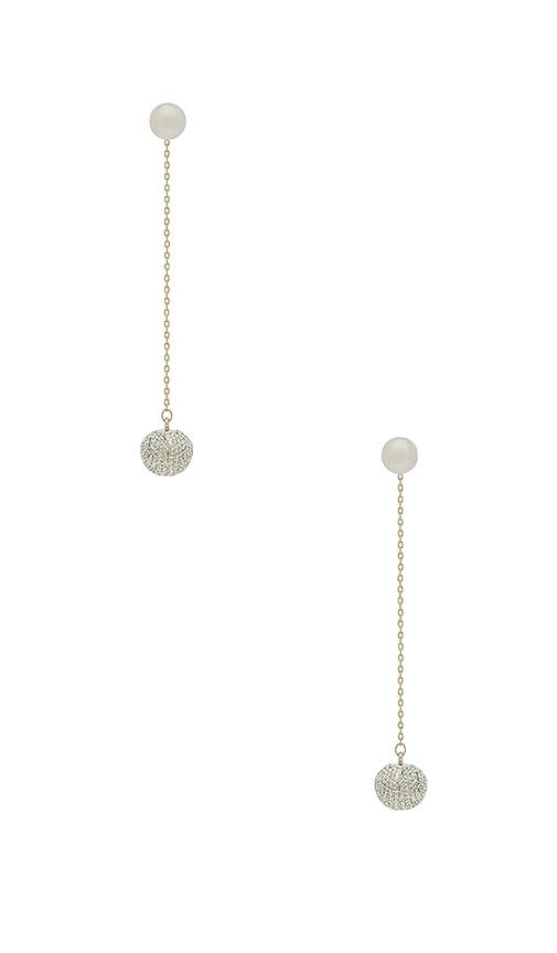 Rebecca Minkoff High Shine Pompom Threader in Metallic Silver