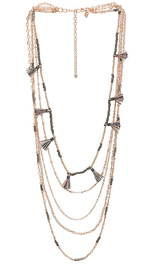 Rebecca Minkoff Layered Tassel Necklace in Metallic Copper