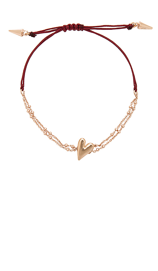 Rebecca Minkoff Heart Pulley Bracelet in Metallic Copper