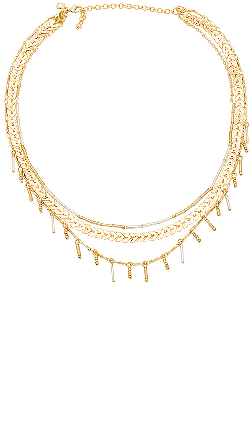 Rebecca Minkoff Layered Necklace in Metallic Gold