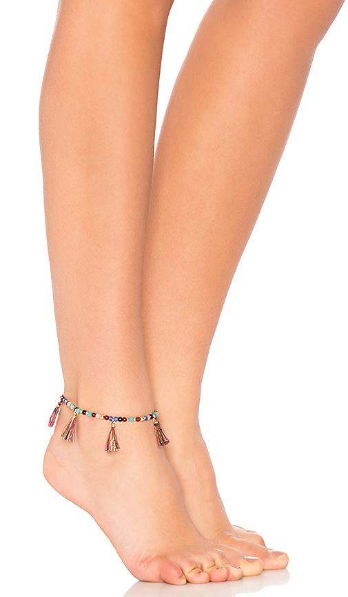 Rebecca Minkoff Morocco Tassel Anklet in Black