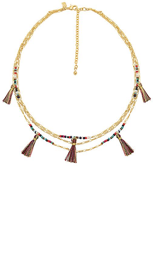 Rebecca Minkoff Multi Tassel Necklace in Metallic Gold