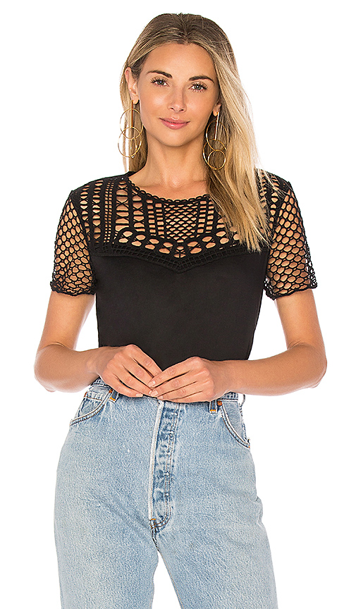 Rebecca Minkoff Ariel Top in Black
