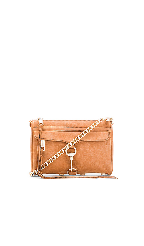 Rebecca Minkoff Mini Mac Crossbody Bag in Tan