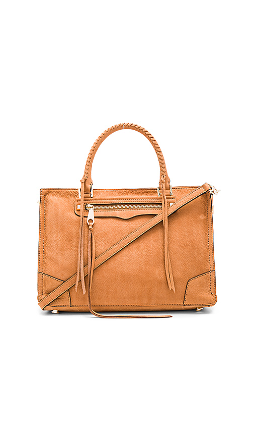 Rebecca Minkoff Regan Satchel in Tan