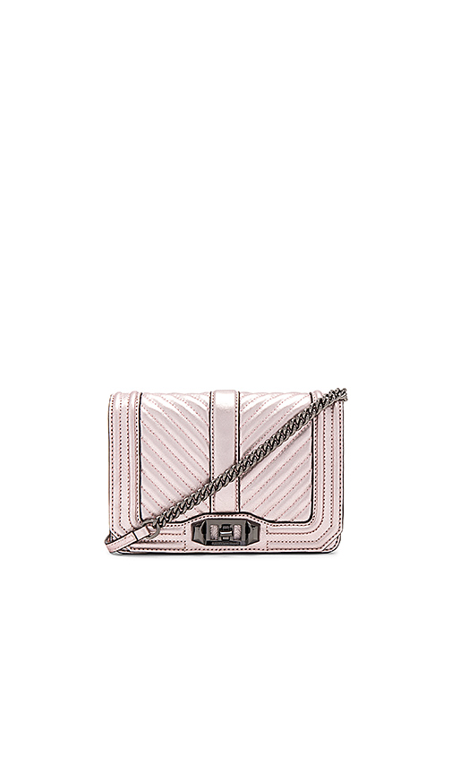 Rebecca Minkoff Small Love Crossbody in Pink
