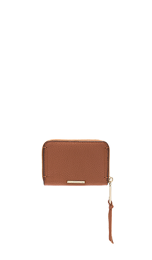 Photo of Rebecca Minkoff Mini Regan Zip Wallet in Cognac - shop Rebecca Minkoff bags sales