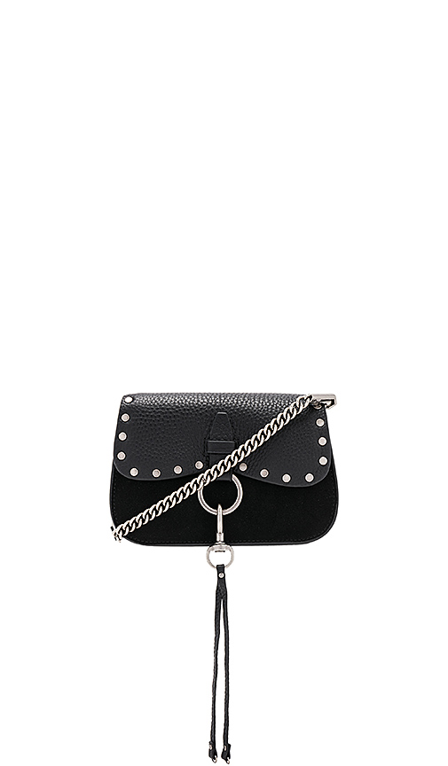 Rebecca Minkoff Keith Small Saddle Bag in Black