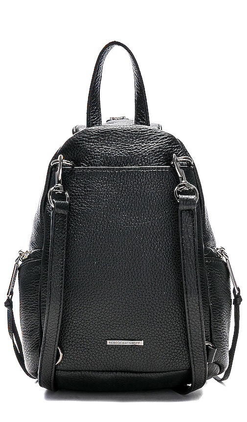 Rebecca Minkoff Convertible Mini Julian Backpack in Black.