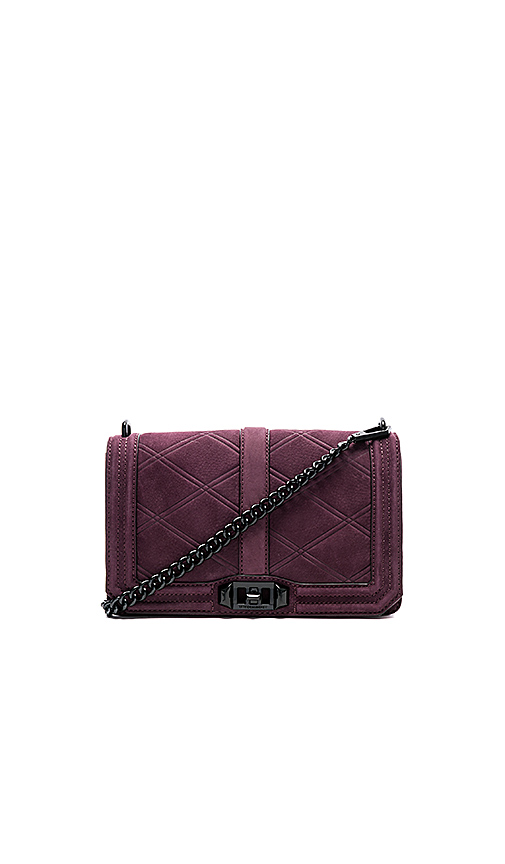Rebecca Minkoff Love Crossbody in Burgundy