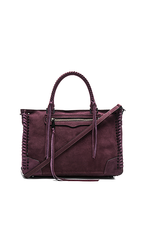 Rebecca Minkoff Regan Satchel in Burgundy