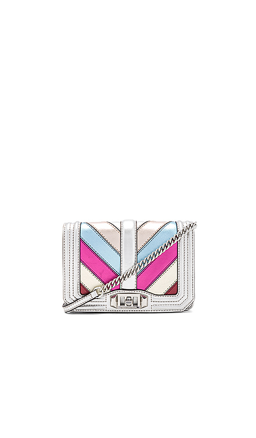 Rebecca Minkoff Patchwork Small Love in Metallic Silver