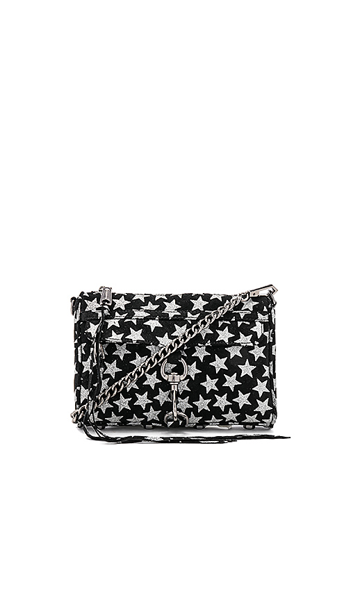 Rebecca Minkoff Glitter Star Mini Mac in Black