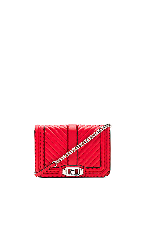Rebecca Minkoff Chevron Quilt Small Love in Red
