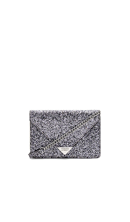 Rebecca Minkoff Glitter Molly Crossbody in Metallic Silver