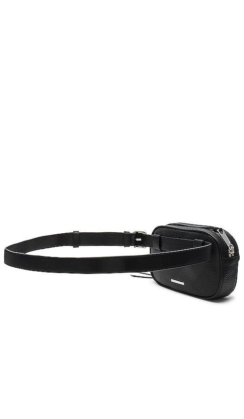 Rebecca Minkoff Blythe Pebbled Belt Bag in Black.