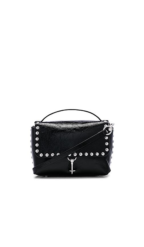 Rebecca Minkoff Blythe Medium Flap Crossbody Bag in Black.