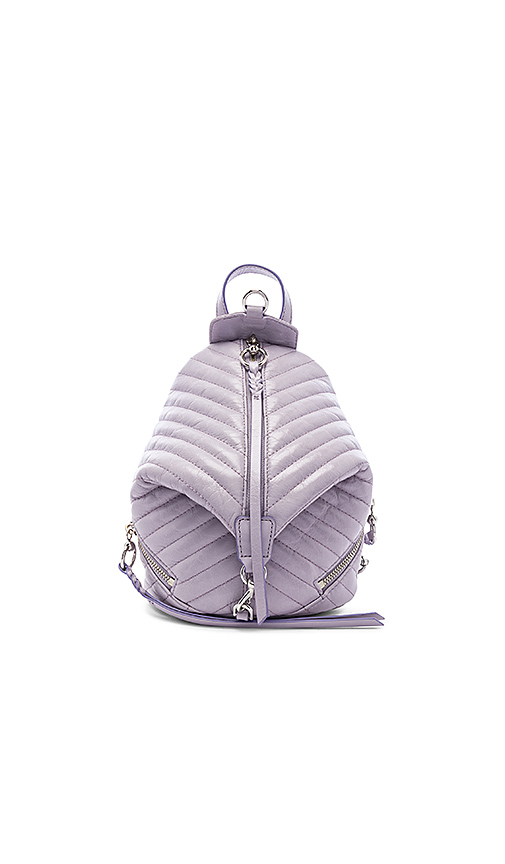 Rebecca Minkoff Quilted Mini Julian Backpack in Lavender.