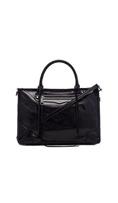 Rebecca Minkoff Regan Satchel in Black