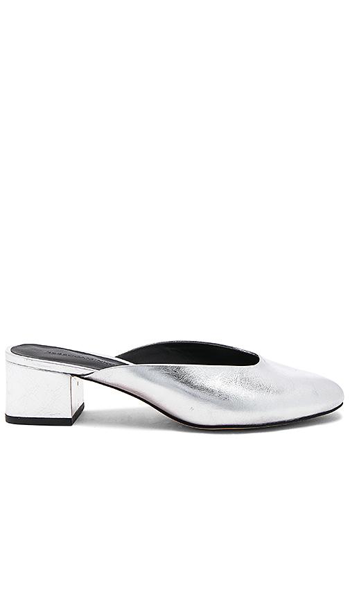 Photo of Rebecca Minkoff Robyn Mule in Metallic Silver - shop Rebecca Minkoff shoes sales
