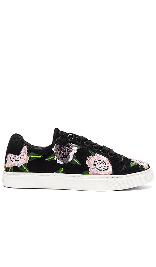Photo of Rebecca Minkoff Bleecker Floral Embroidered Sneaker in Black - shop Rebecca Minkoff shoes sales