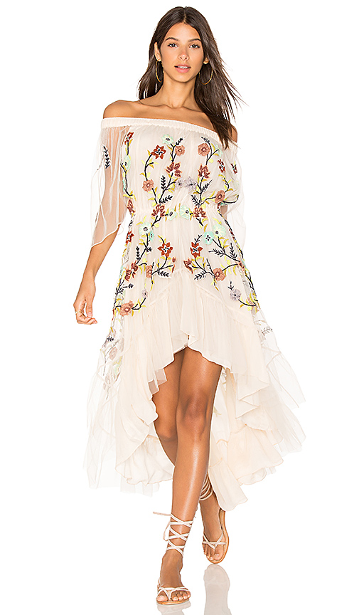 ROCOCO SAND Off the Shoulder Dress in Ivory