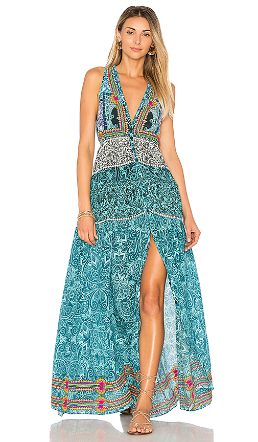 ROCOCO SAND X REVOLVE Maxi Dress in Turquoise