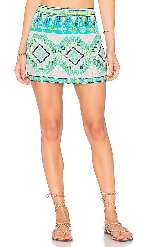 ROCOCO SAND Mini Skirt in Turquoise