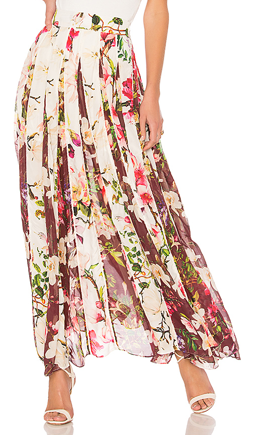 ROCOCO SAND Floral Maxi Skirt in Pink