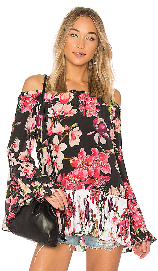 ROCOCO SAND Bell Sleeve Blouse in Black