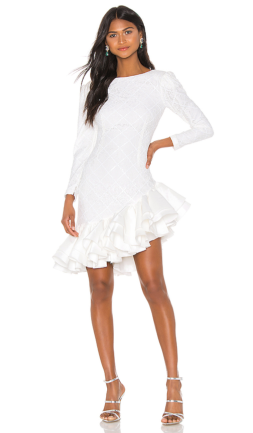 RetrofÉTe Retrofete X Revolve Tasha Dress In White.