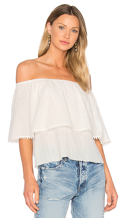 ROI 3 Way Trimmed Blouse in Ivory