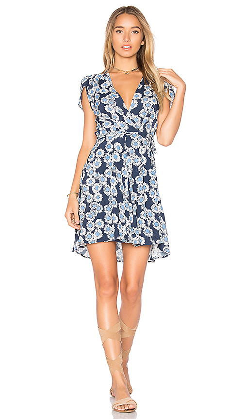 ROLLA'S Dancer Wrap Dress in Blue. - size L (also in M,S,XS)