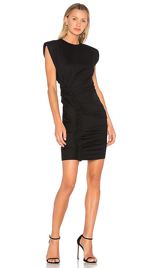 Ronny Kobo Adena Braided Ponte Dress in Black