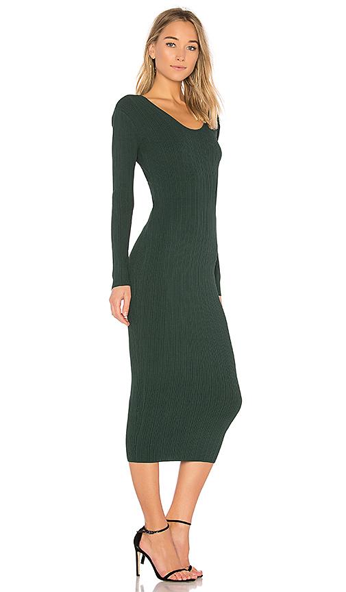 Ronny Kobo Pearl Variegated Rib Dress in Green