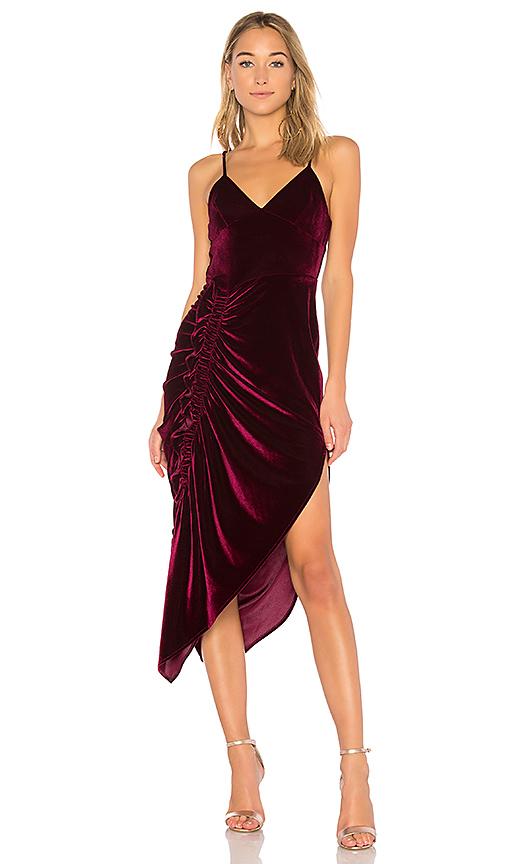 Ronny Kobo Ahn Velvet Dress in Purple