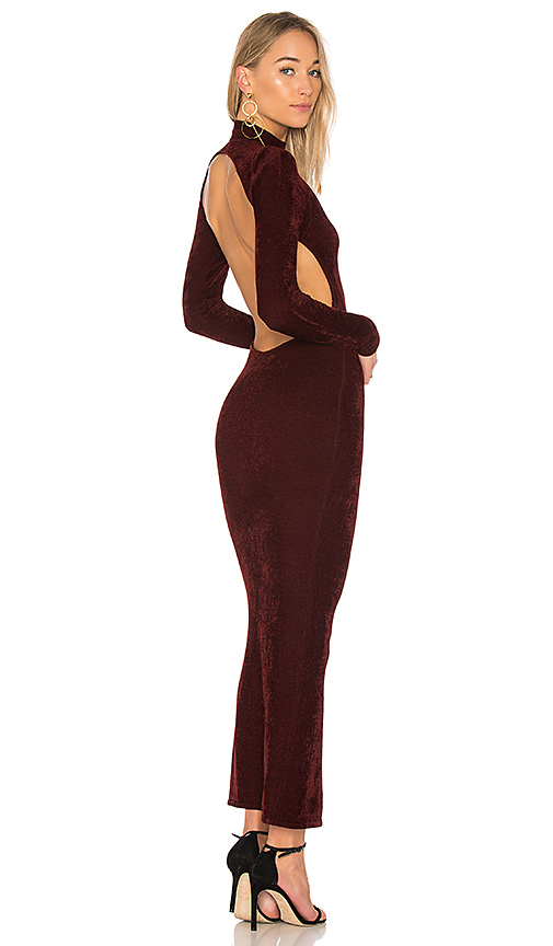 Ronny Kobo Susan Chenille Dress in Burgundy. - size M (also in L,S,XS)