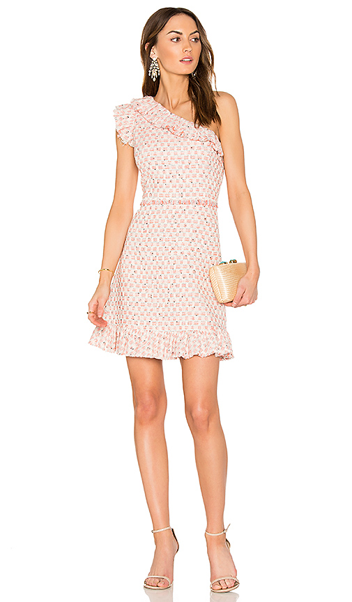 Photo of Rebecca Taylor Multi Tweed Dress in Pink - shop Rebecca Taylor dresses sales