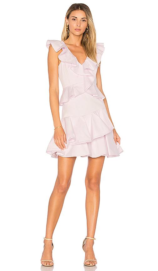 Rebecca Taylor Ruffle Dress in Lavender