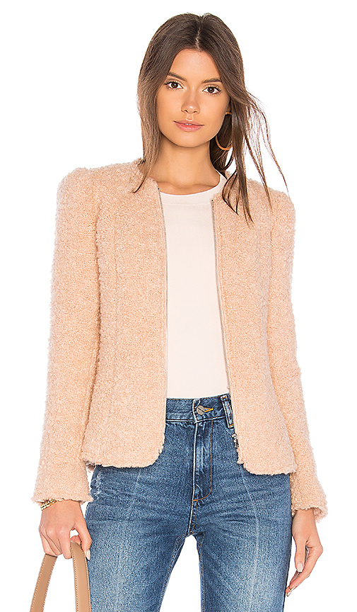 Rebecca Taylor Fluffy Tweed Jacket in Pink. - size 0 (also in 2,4,6)