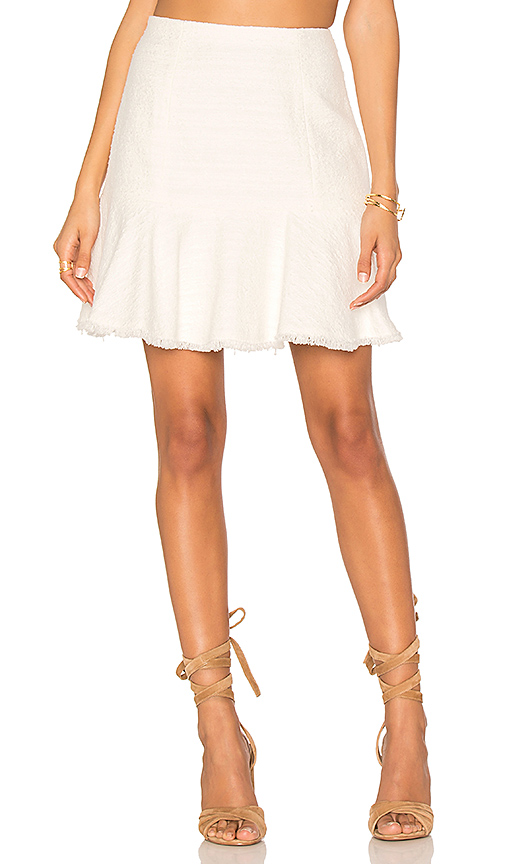 Rebecca Taylor Textured Tweed Skirt in White. - size 0 (also in 2,4)